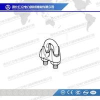 Hot-dip Galvanized JK Type Guy Clips/Fasteners Wire Rope Clips For Overhead Steel Hardware