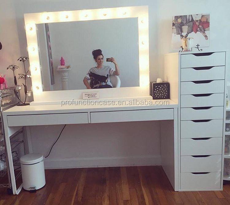professionnel studio maquillage miroir avec led lumi res salon de coiffure miroir avec clairage. Black Bedroom Furniture Sets. Home Design Ideas