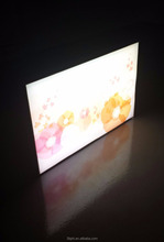 LED slim light boxes narrow frame with german fabric material