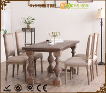 French Top Sale Classical Dining Room Furnitre Wooden Round Table Set