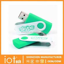 Custom Logo Swivel Flash Drive USB