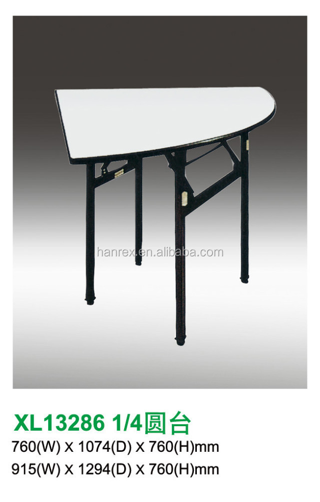Wholesale 1 2half moon folding metal and pvc fireboard top for 1 2 moon table
