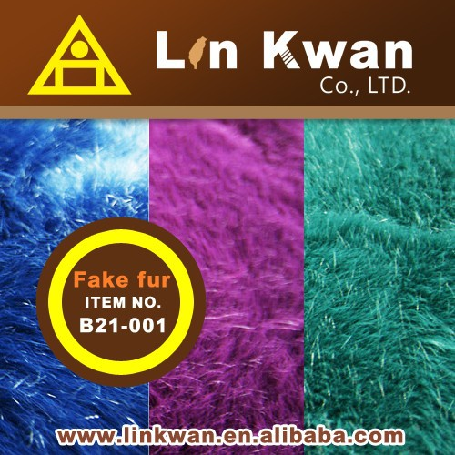 Linkwan LK três cores comprar tecido de pelúcia faux fur tecido de malha