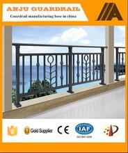 Hdg hierro barandillas de los balcones de diseños con precios más bajos YT006