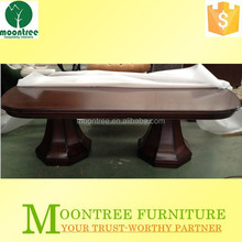 Moontree MDT-1124 china supplier thick wood slab dining table