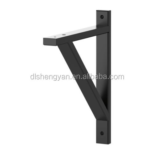 angle heavy duty floating hanging wall bracket wood shelf. Black Bedroom Furniture Sets. Home Design Ideas