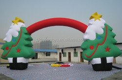 inflatable festival christmas tree arch for grand opening / advertising christmas tree entrance