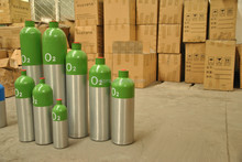 Different kinds of Aluminum gas cylinder used for oxygen