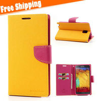 For Samsung galaxy Note 3 Flip Cover Credit Card Wallet Case mobile flip cover