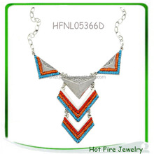 Alloy Triangle Pedant Tie Shape Bohemia Unique Jewelry Spring Summer Design For Beautiful girls ladies