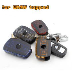 New arrive Orignal leather car key case remote for BMW old model car