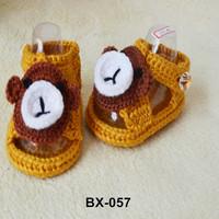 China market OEM custom minion knitting pattern new born crochet yarn baby shoe
