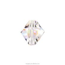 Swarovski Elements DIY Jewelry Sharp Bicone 5301 8mm Facet Crystal Beads Silver Shade