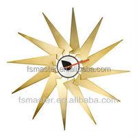 George Turbine sun shape wall clock