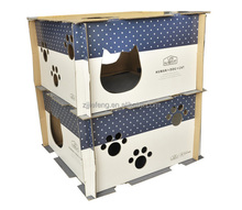 Hot selling pet products corrugated indoor cat house