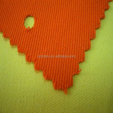DX hot sales orange 100% cotton antifire fleece fabric and water repellent fabric coal and oil worker