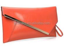 Trendy women evening bag, clutch bag with metal frame