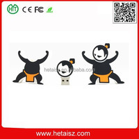 pvc sumo wrestler usb stick 32 gb usb, pvc cartoon human shape usb flash 2tb