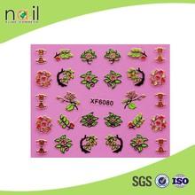Custom flower design 3d nail art sticker nail decoration