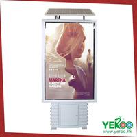 outdoor floor standing advertising solar board light box