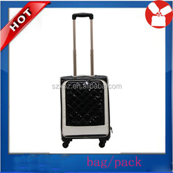 new product 2015 Pu Travel Trolley Bags For 3 Pieces