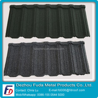Galvanized Steel Plate Stone Coated Metal Roof Tiles