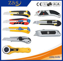 18mm utility knife, cutter,single blade,plastic handle