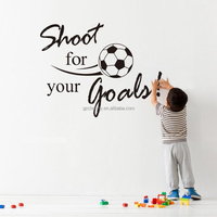 New Arrival Beautiful Shoot for Your lovely Goals Football Soccer Removable Decal Wall Sticker kids rooms decor Home Garnish