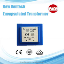 50/60Hz EI 30 Encapsulated Transformer with 1/1.2/1.5VA Power Voltage and CE ROHS UL Marks