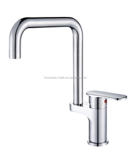 Kitchen Bathroom Sink Basin Mixer Tap Chrome Swivel With Long Arm Rotate Brass Faucet