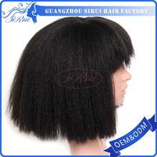 natural afro kinky curly full lace wigs , yaki bob wigs for black women , short and kanekalon lace wig .