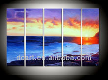 Modern Group Seascape Oil Painting