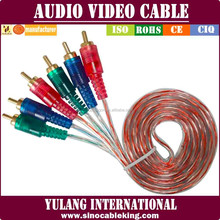 High Performance 1.8m Top Range 3 RCA to 3 RCA Audio Video AV Cable