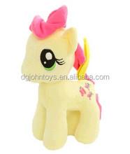 Make stuffed colorful animal plush toy horses