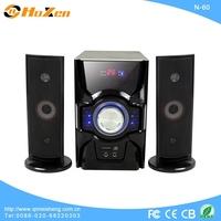 2.1 channel active audio speaker box with fm,usb,sd,remote control
