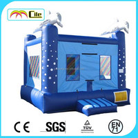 CILE 2015 Inflatable White Whale Jumping Castle Toy for Kids with High Quanlity Including CE/UL blower