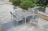 Garden polywood furniture set/ Outdoor aluminum rectangular table and chair