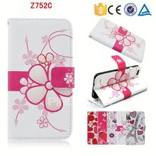 Hot sale mobile phone accessory for ZTE Z752C folio leather cover