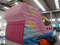 2013 new inflatable Pirate ship with PVC slide and soft playground