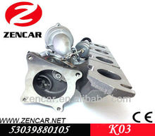 Kkk turbo K03 para Eos 2.0L TFSI com BWA - BPY motor 53039880105