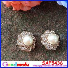 20mm Rhinestone and pearl Button DIY wedding bridal favors crystal wedding favors