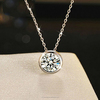 925 sterling silver jewelry,zircon pendant necklace wholesale(SWTPR1437)