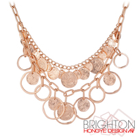 Gold Plated Fashion Alloy Coin Necklace N6-9103-5700