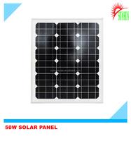 Best quality 50 watt 18 volt mono solar panel