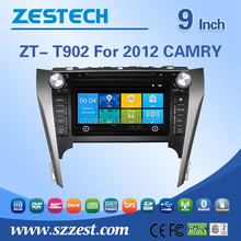 Double din car stereo auto steering wheel for Toyota 2012 CAMRY car gps with cd dvd ATV SWC RDS
