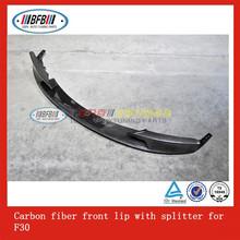 2012+ Carbon fiber front lip with splitter auto front bumper for F30