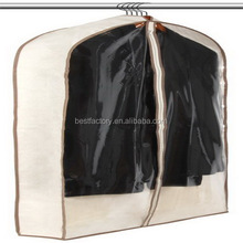 hanging suit cover, non woven coat cover , white dress garment bag