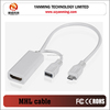 micro usb to hdmi mhl adapter cable for samsung S2 I9100 mobile phone