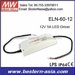 60W LED Driver Meanwell ELN-60-12