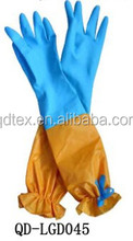 With extra long sleeve cleaning rubber latex gloves china manufacturer